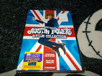Austin Powers 3 Film Collection NEW SEALED DVD +UV Digital Free Shipping