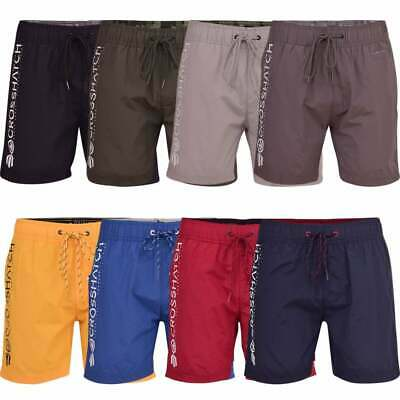 Mens Crosshatch Designer Swimming Shorts Trunks Drawcord Beach Casual Mesh Lined