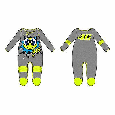 VR46 Official Valentino Rossi 46 Cotton Baby Overall Pop Art Grey