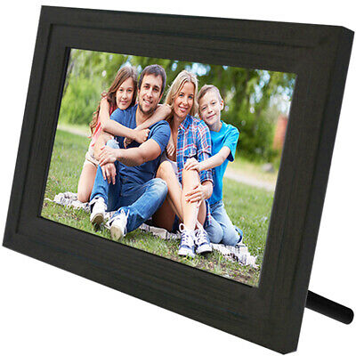 "Life Made Digital Touch-Screen 13"" Picture Frame with Wi-Fi -Dark Wood - MFRB"