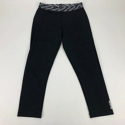 6a54d314ae6e4 Reebok Workout Ready Collection Bootcut Black Pants Womens Size Small