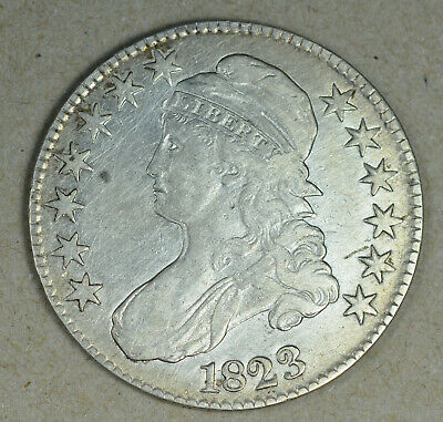 1823 CAPPED BUST HALF DOLLAR   XF - AU  price just reduced!!