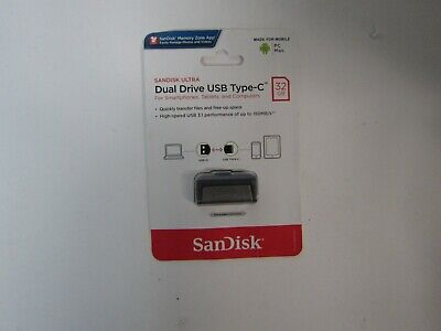 Sandisk Ultra 32GB Dual Drive USB TypeC for tablets computers & SDDDC2-032G-A46