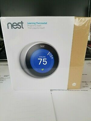 Nest Learning Thermostat 3rd Generation, Works with Google Home and Amazon Alexa