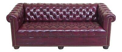 30687EC: English Design Tufted Leather Chesterfield Sofa