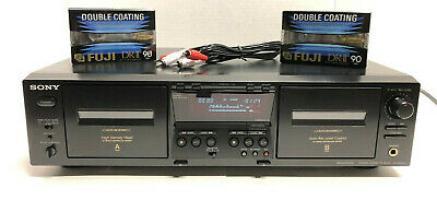 Sony Tc-We475 Stereo Cassette Deck Tape Player Dual High Speed Dubbing -Tested!