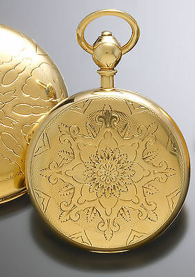 English Lever Fusee Gold Pocket Watch Ca1890 | 18K Convertible Open/Hunter Case