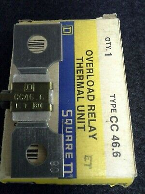 3 Square D Overload Relay Thermal Units Type Cc 46.6