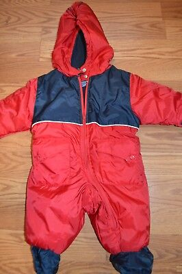 d43df71d5 French Toast baby INFANTS winter Snow Suit L/S HOOD 6-9 M RED