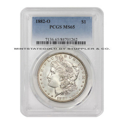 1882-O $1 Morgan PCGS MS65 Gem graded New Orleans minted Silver Dollar coin