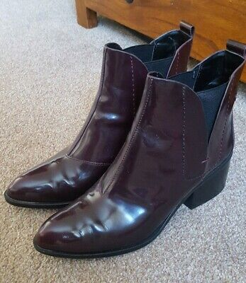 Autograph Shiny leather Burgandy/Brown Boot Size 5