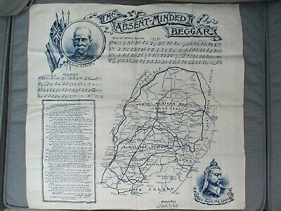 Antique Victorian Commemorative Boer War Hankie The Absent Minded Beggar D Mail
