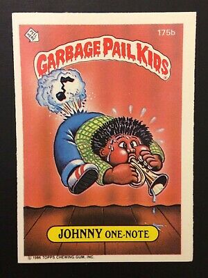 Johnny One Note 175b UK Garbage Pail Kids Series 4(1987) Puzzle Back ~Mint~Rare