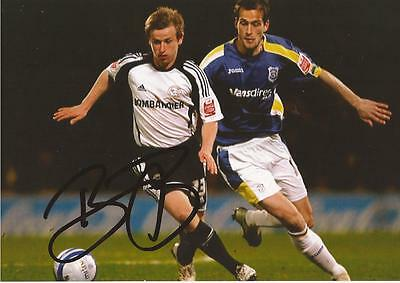 DERBY: BARRY BANNAN SIGNED 6x4 ACTION PHOTO+COA