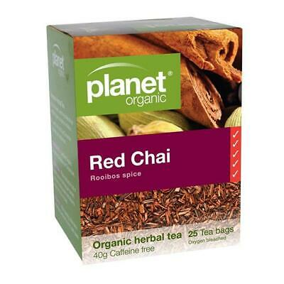 PLANET ORGANIC Organic Herbal Tea Red Chai 25 Tea Bags