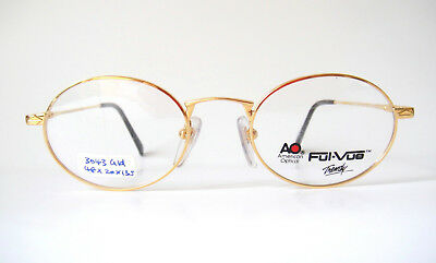 American Optical 48-20 135 Oval 20KG Gold 3043 AO Small Fit Frames Eyeglass Mens