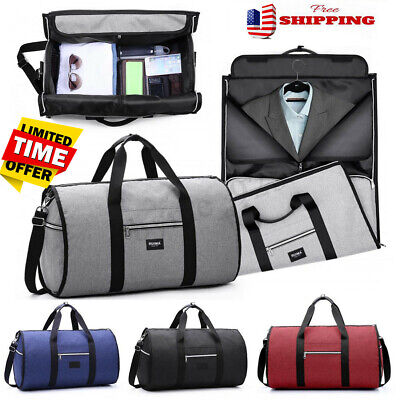 2 in 1 Business Travel Garment Sports Bag Carry On Suit Outdoor Luggage Duffel !