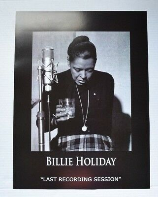 Billie Holiday Last Recording Session Jazz Poster 18X24 POSTER