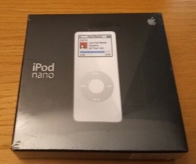 Brand New Apple iPod nano 1st Generation White (2 GB), MA004LL/A Sealed