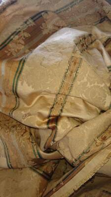 GORGEOUS UNUSED WIDE LYON SILK DAMASK EARLY 1900s CLASSICAL VIGNETTES 2 METRES