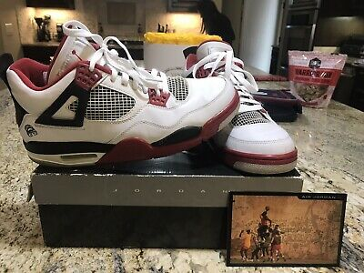 eabd5029e742 Air Jordan IV 4 Retro Size 10 Mars Blackmon White Varsity Red Black  308497-162