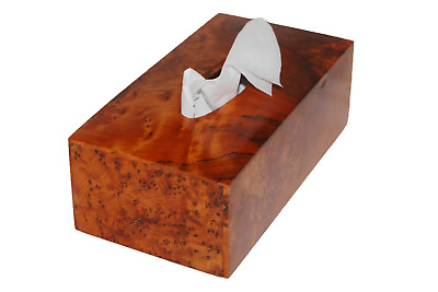 3  Wooden Tissue Box New Handmade Moroccan Thuya Creative Cover Wood Paper