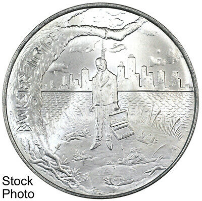Bankster Justice Freedom From Tyranny 1 oz Silver Round Crescent City Silver