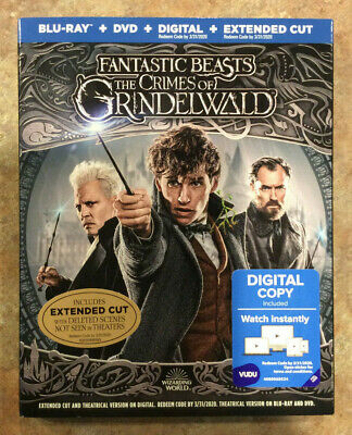Fantastic Beast The Crimes of Grindelwald (Blu-ray + DVD + Digital) Free Ship