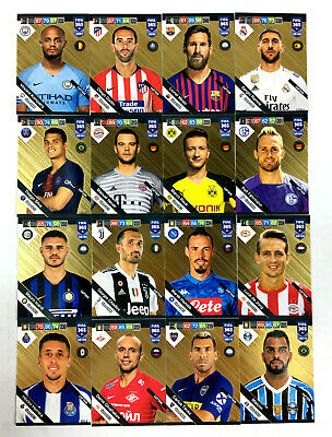 2019 PANINI ADRENALYN XL FIFA 365 UPDATE * GOLD - CAPTAIN * Messi Ramos