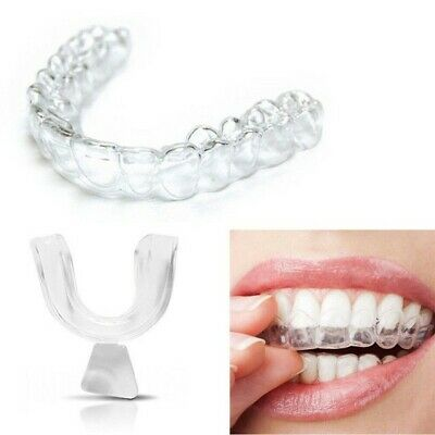 2 x Teeth Whitening Mouth Trays/ Guard Reusable Gum Shield Bleaching Grinding Uk