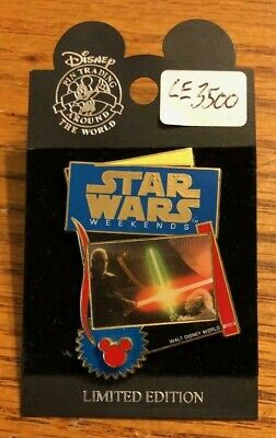 Disney Star Wars Weekends Dooku And Yoda Light Sabers Limited Edition Pin