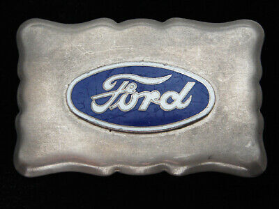 QF03133 VINTAGE 1970s **FORD** MOTOR COMPANY ADVERTISEMENT BELT BUCKLE