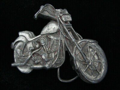 Qf05111 Vintage 1979 Cut-Out **Motorcycle** Pewter Bergamot Belt Buckle