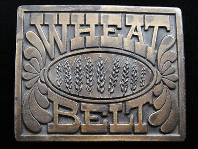 RE09105 VINTAGE 1970s **WHEAT BELT** MAGAZINE ADVERTISEMENT BELT BUCKLE