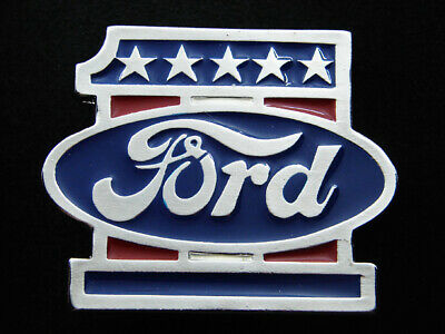 RI01143 *NOS* VINTAGE 1970s **FORD** MOTOR COMPANY COMMEMORATIVE BELT BUCKLE