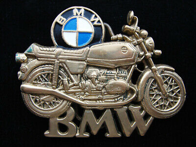 Rd13160 Vintage 1980 **Bmw Motorcycles** Solid Brass Baron Belt Buckle
