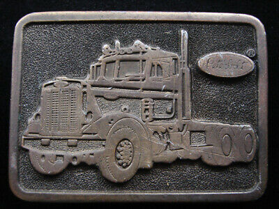 RH03137 VINTAGE 1970s **PETERBILT** TRUCK COMPANY ADVERTISEMENT BELT BUCKLE