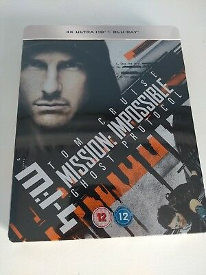Mission Impossible 4 Ghost Protocol Limited Edition Steelbook 4K UHD Blu-ray +BD