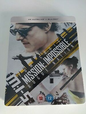 Mission Impossible 5 Rogue Nation Limited Edition Steelbook 4K UHD Blu-ray + BD