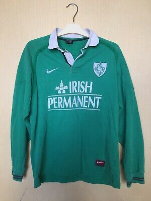 new concept 562ee b385f RUGBY NATIONAL TEAM Ireland Jersey Camiseta Soccer Maglia Shirt Vintage Nike