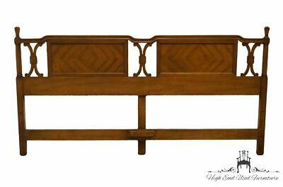 AMERICAN OF MARTINSVILLE Italian Neoclassical Bookmatched King Size Headboard...
