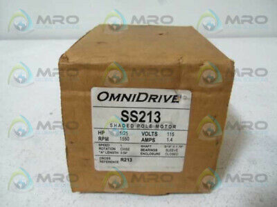Omnidrive Ss213 Shaded Pole Motor * New In Box *