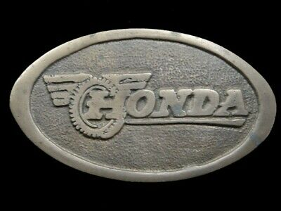 SA03141 VINTAGE 1970s **HONDA** MOTORCYCLE SOLID BRASS BARON BELT BUCKLE