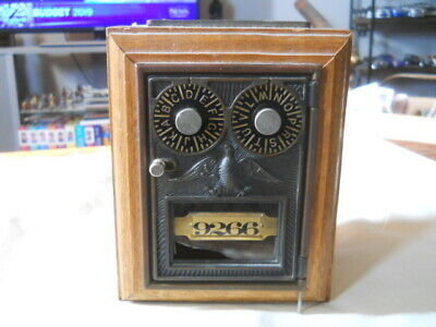 Old Double Dial Post Office safe Bank Old Tyme Reproduction Inc