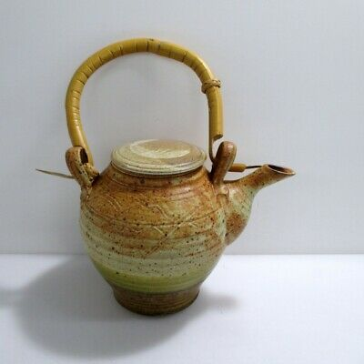 Patrick Horsely Hand Made Stamped Ceramic Stoneware Tea Pot Pottery