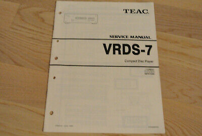TEAC VRDS 7 CD Player Service Manual