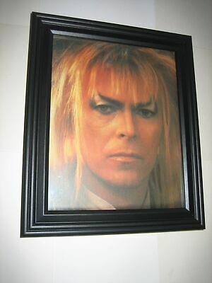 Labyrinth Pin-up FRAMED # 1 David Bowie Jareth the Goblin King 1986 Jim Henson M