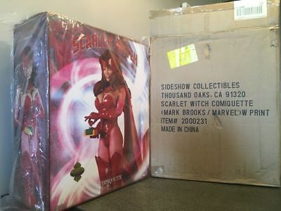 Sideshow Scarlet Witch Premium Comiquette Marvel By Mark Brooks