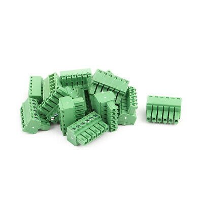 15Pcs AC 300V 8A 3.5mm Pitch 6P Terminal Block Wire Connection for PCB Mounting
