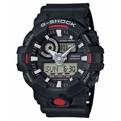 Casio G-Shock Black Analog hands and multi-dimensional Dial 55 MM GA700-1A NEW